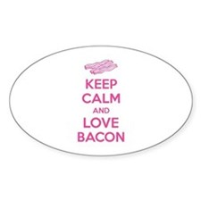 Keep calm and love bacon Decal