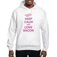 Keep calm and love bacon Hoodie