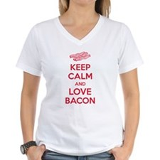 Keep calm and love bacon Shirt