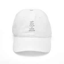 Keep calm and love bacon Baseball Cap