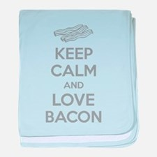 Keep calm and love bacon baby blanket