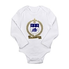 Cute Canadian family crests Long Sleeve Infant Bodysuit