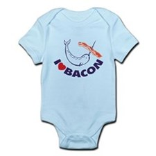 I love bacon narwhal Infant Bodysuit