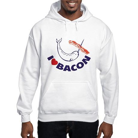 I love bacon narwhal Hooded Sweatshirt