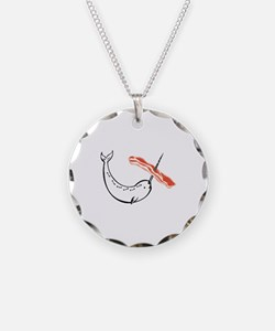 I love bacon narwhal Necklace