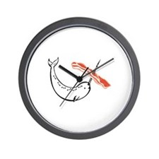 I love bacon narwhal Wall Clock