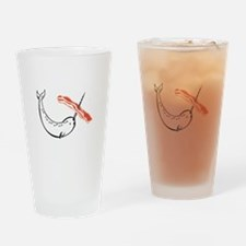 I love bacon narwhal Drinking Glass