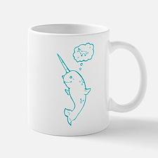 narwhal dreaming of unicorns Mug