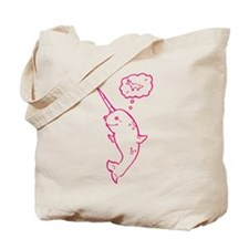 narwhal dreaming of unicorns Tote Bag