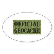 Official Geocache Oval Decal