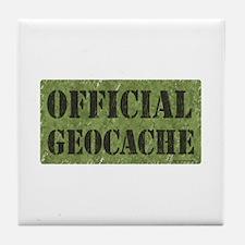 Official Geocache Tile Coaster