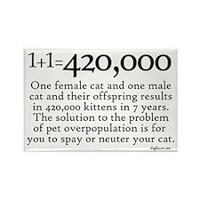 420,000 Cat Overpopulation Rectangle Magnet