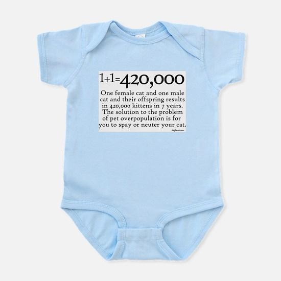 420,000 Cat Overpopulation Infant Bodysuit