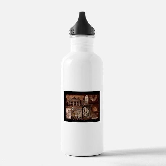 Paris Opera House collage Sports Water Bottle