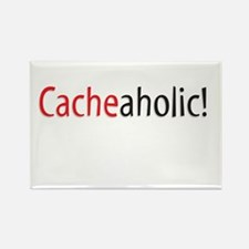 Cacheaholic! Rectangle Magnet
