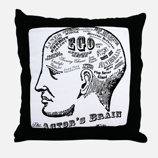 The Actor's Brain Throw Pillow