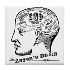 The Actor's Brain Tile Coaster