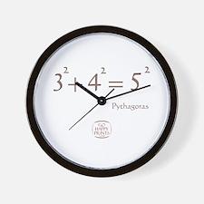 Pythagoras Equation Wall Clock