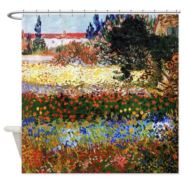 Van gogh jardin fleuri a arles shower curtain by iloveyou1 for Jardin a auvers van gogh