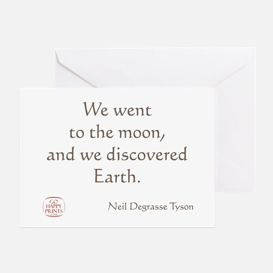 We went to the moon Greeting Card