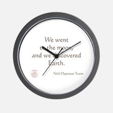 We went to the moon Wall Clock