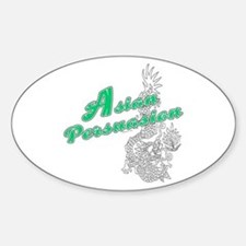 Asian Persuasion Oval Decal