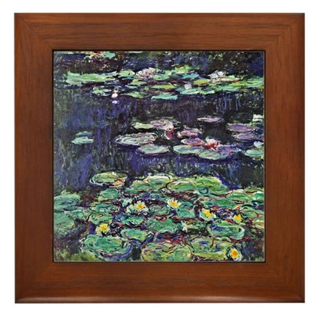 Claude Monet Water Lilies Framed Tile