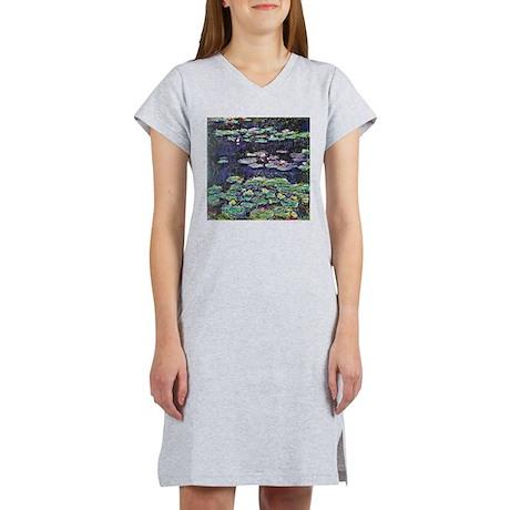 Claude Monet Water Lilies Women's Nightshirt