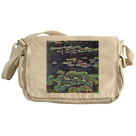 Claude Monet Water Lilies Messenger Bag