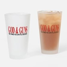 GOD AND GUNS Drinking Glass