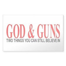 GOD AND GUNS Decal