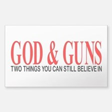 GOD AND GUNS Stickers