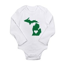 Green Michigan Body Suit