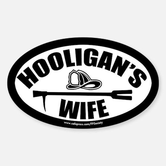 FPS: Hooligans Wife Sticker (Oval)