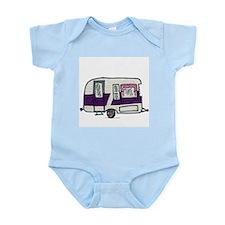 Cutie Purple VIntage Trailer Infant Bodysuit