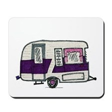 Cutie Purple VIntage Trailer Mousepad