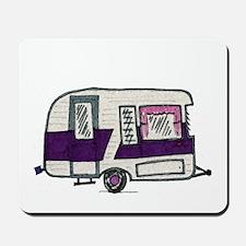 Cutie Purple VIntage Trailer Mousepad