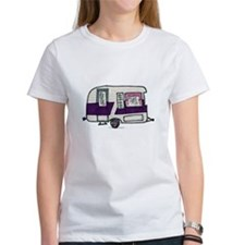 Cutie Purple VIntage Trailer Tee