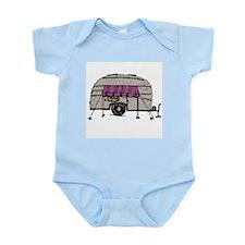 Vintage Airstream Camper Trailer Art Infant Bodysu
