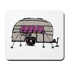 Vintage Airstream Camper Trailer Art Mousepad