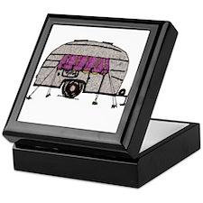 Vintage Airstream Camper Trailer Art Keepsake Box