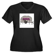 Vintage Airstream Camper Trailer Art Women's Plus