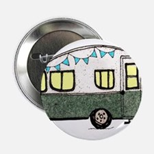 """Vintage Camper Trailer with flags 2.25"""" Button"""