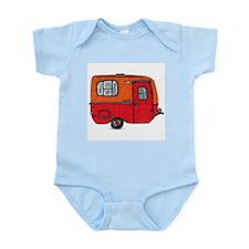 Cute orange boler camper Infant Bodysuit