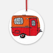 Cute orange boler camper Ornament (Round)