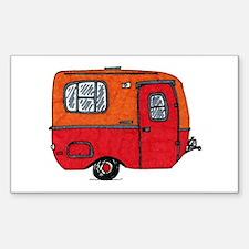 Cute orange boler camper Decal