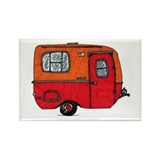 Cute orange boler camper Rectangle Magnet