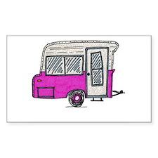 pinky vintage camper trailer Decal
