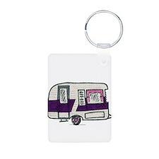 Cutie Purple VIntage Trailer Keychains