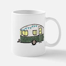 Vintage Camper Trailer with flags Mug